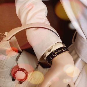 Pink Pineapple Enameled Bangle Bracelets